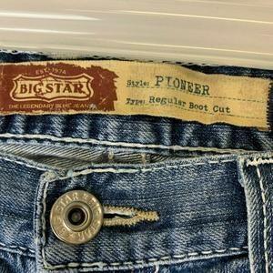 BIG STAR Jeans - Big Star 36L Pioneer Mens Distressed Jeans